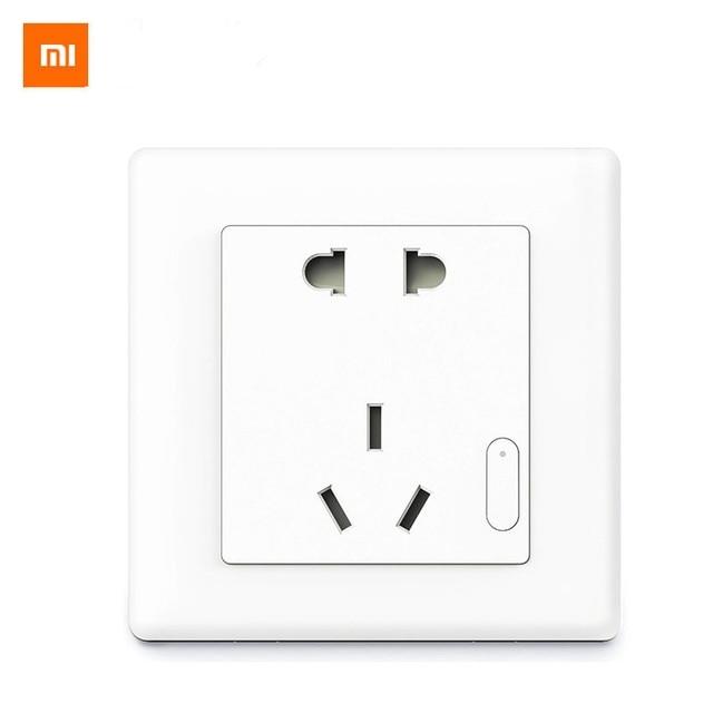 Original Aqara ZigBee Sem Fio Plugue Interruptor Da Tomada de Parede de Controle De Luz Inteligente de Trabalho Para Xiaomi Kits Casa Inteligente Controle Remoto APP