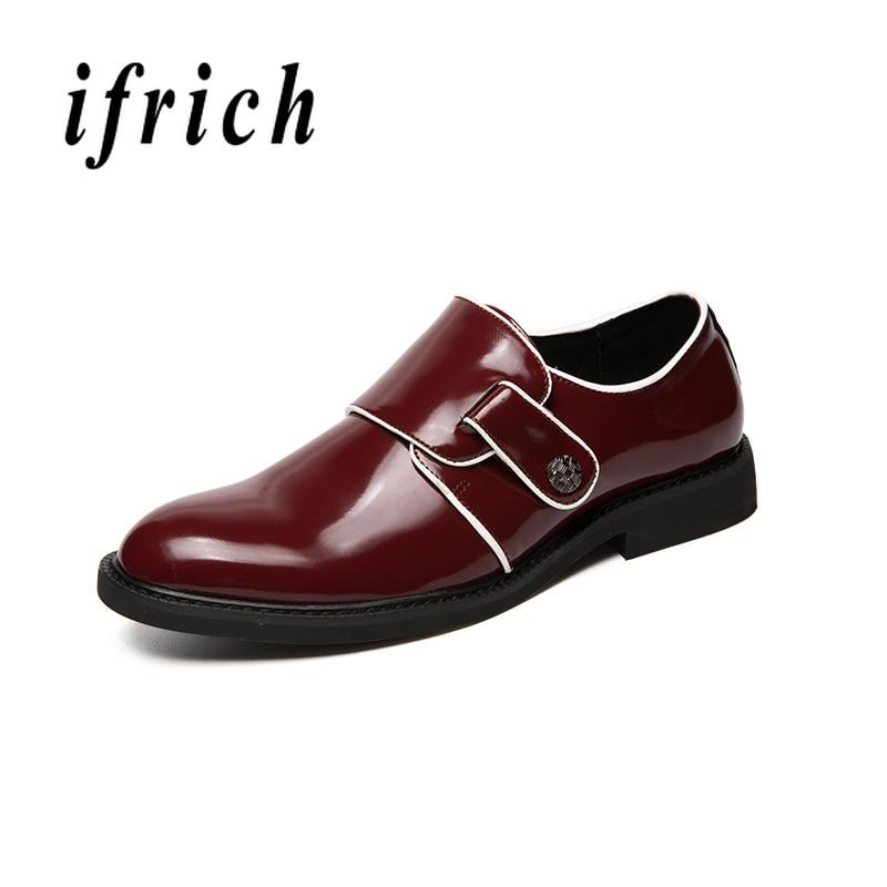 Black Masculinos Homens Para Juventude Couro De Sapatos Anti red slip Patente Mens Wearable Negócios Sapatas Casula Dos Vermelho Moda Preto Elegante qf7wHz