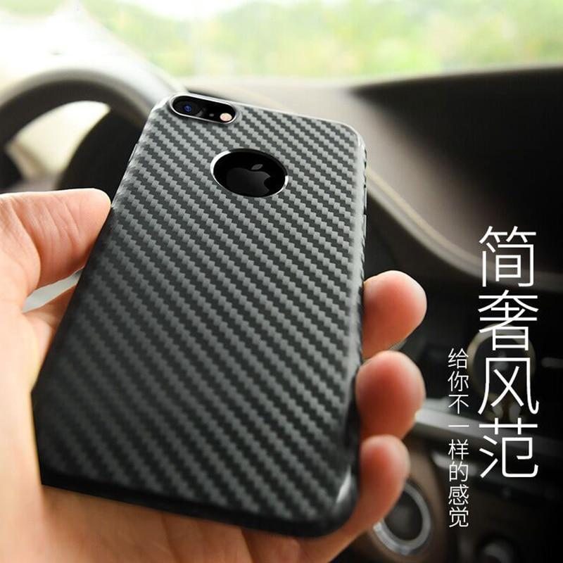 Untuk IPhone7 7 ditambah kasus shell ponsel pola serat karbon - Aksesori dan suku cadang ponsel - Foto 4