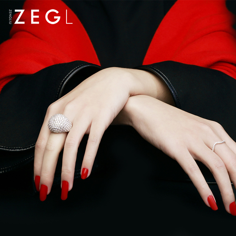 ZEGL bague femme bague mariage bague exquise bague cristal bague zircon cubique - 3