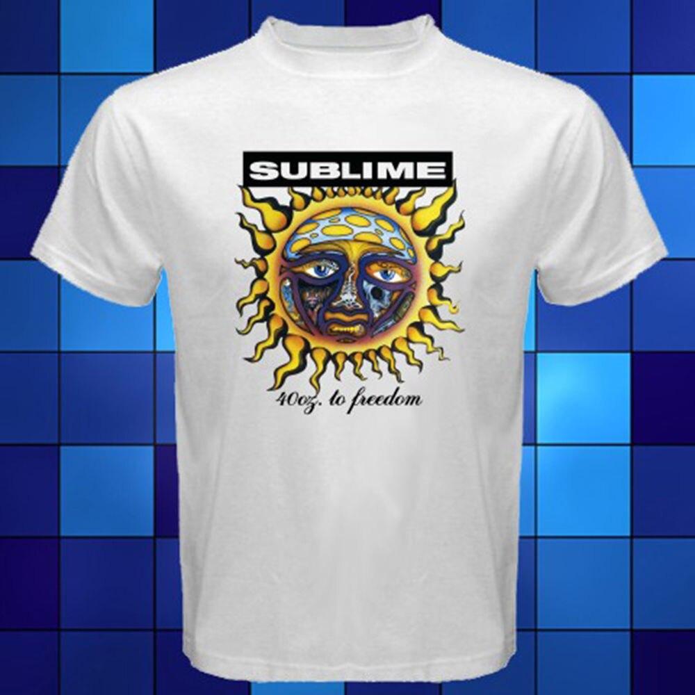 9e5affac4 Gildan New Sublime 40 Oz. To Freedom Rock Band White men t shirt ...