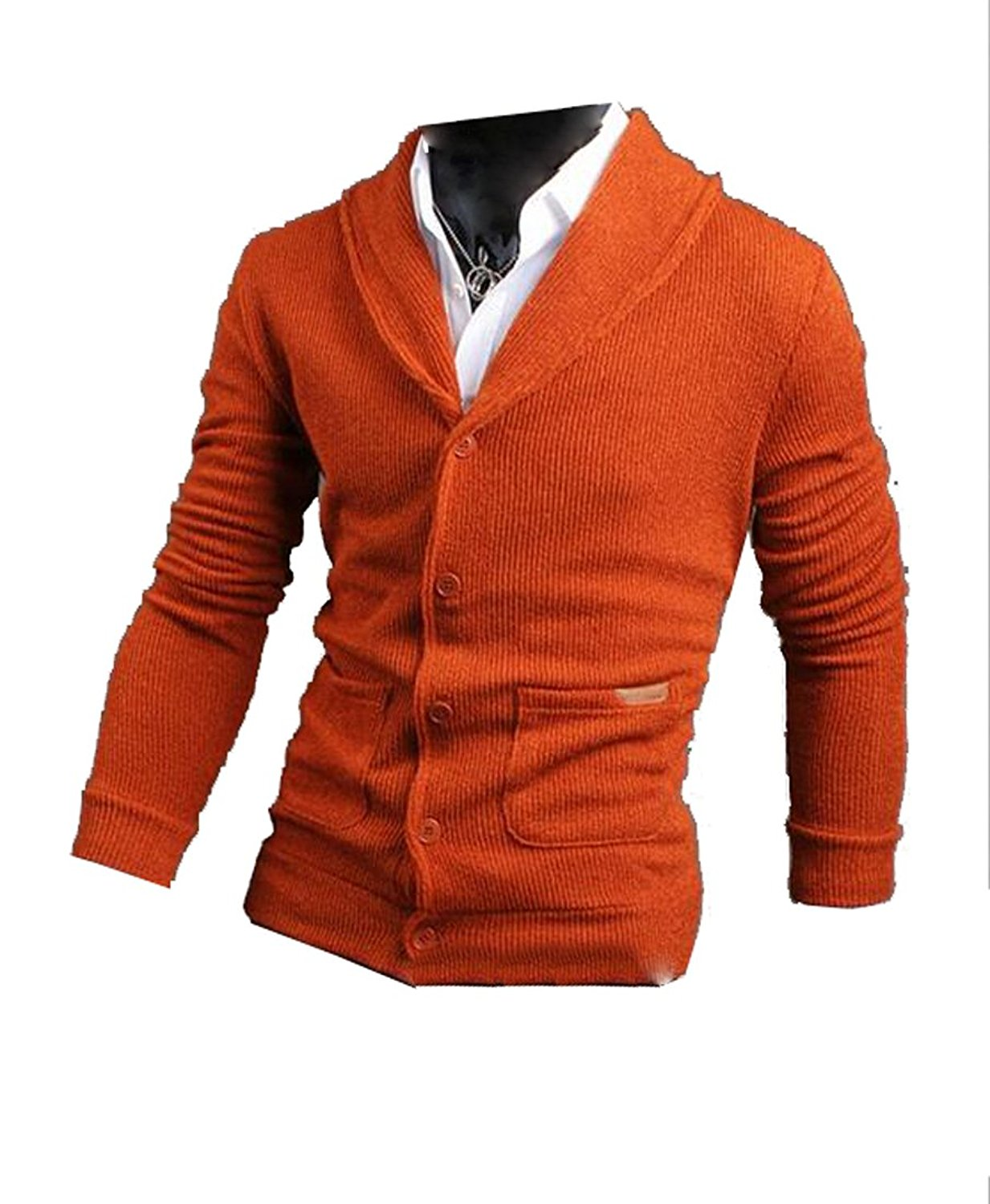 Generic Mens Casual Long Sleeves Cardigan Sweater Button Up-in ...