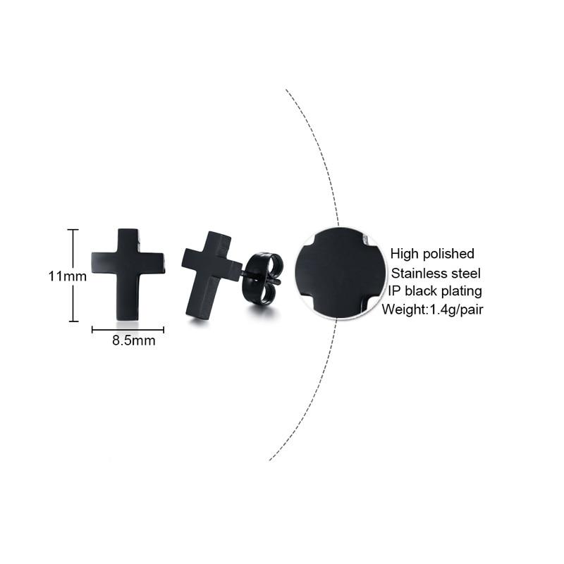Small Black Cross Shaped Earrings
