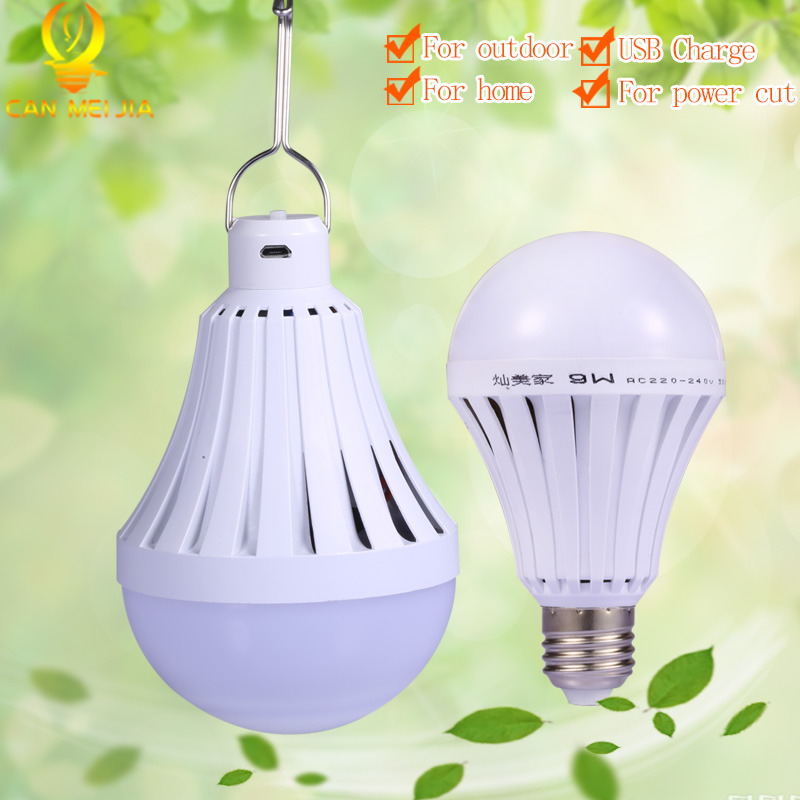E27 LED Bulb Emergency Light Lamp 5W 7W 9W 12W 20W 30W 40W USB Rechargeable Bombillas Led for Outdoor Lighting Camp Fish стоимость