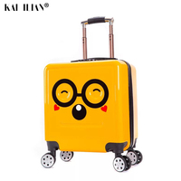 Kids Suitcase 3D Smile Travel Luggage Children Travel Trolley Suitcase for Children Grils boys wheeled students Rolling suitcase