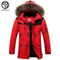 Asesmay 2016 зимняя куртка мужчины пальто утка пуховик с меховым капюшоном Съемный куртка мужчины пальто мужской пиджак Плюс Размер