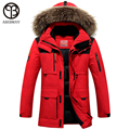 Asesmay 2016 winter jacket men coat duck down jacket with fur hood  Removable parka men coat masculine jacket Plus Size