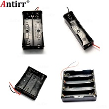 Black 1x 2x 3x 4x Slots Way 18650 3.7V Battery Storage Box Case Cover DIY Mobile Lithium Batteries Power Bank Holder Wire Leads