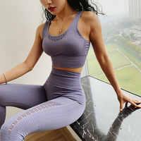 Newest Women Energy Seamless Sport Bra Gym Top Fitness Yoga Bra Padded Push Up Shockproof Running Back Cross Strappy Sports Bra