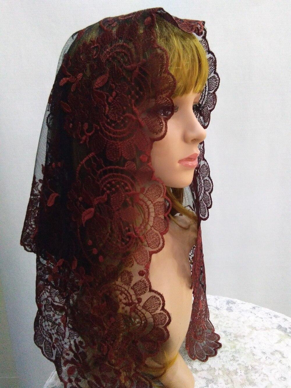 Spanish Lace Mantilla Embroidery Catholic Lace Veil Chapel ...