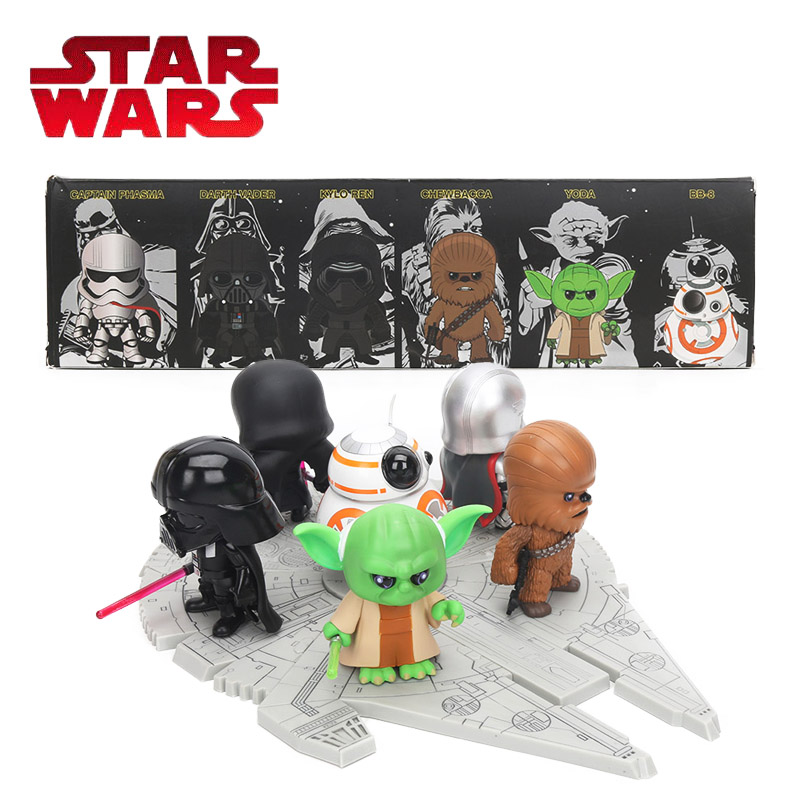 10cm Star Wars Toy Episode VII The Force Awakens DARTH VADER KYLO REN CHEWBACCA YODA BB-8 PVC Action Figure Collectible Model new hot star wars 7 the force awakens kylo ren pvc action figure collectible model toy 16cm