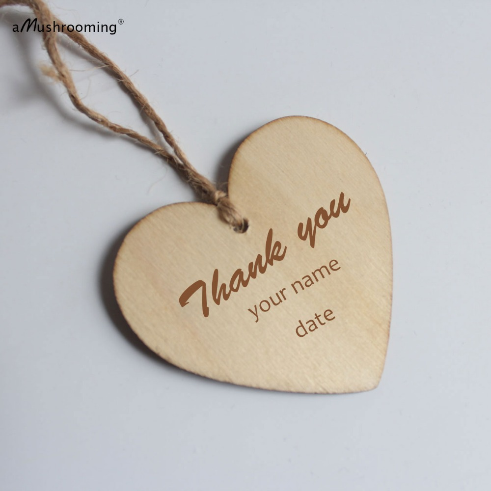 Personalized Wooden Hearts | Custom wooden tags | Wedding Favors ...