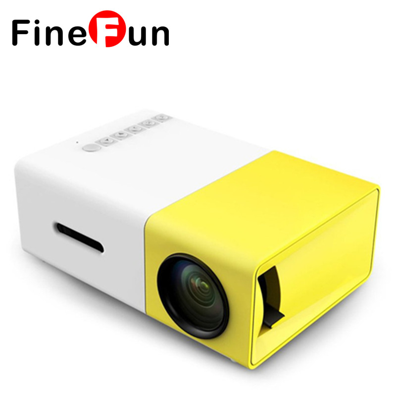 FineFun YG300 LCD 400-600 Lumens 320x240 Pixels Support 1080P With HDMI USB AV SD Input 3.5mm AUX Interface Multi-use Projector