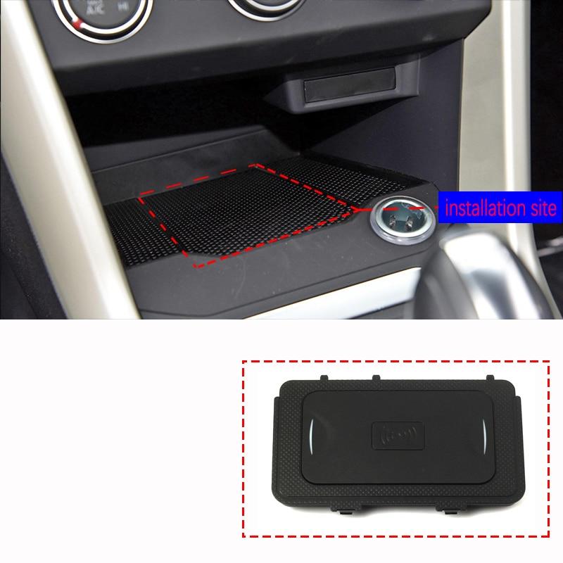 Для Volkswagen VW T-ROC 2017 2018 QI мобильный телефон Беспроводная зарядка автомобильные аксессуары неразрушающая установка