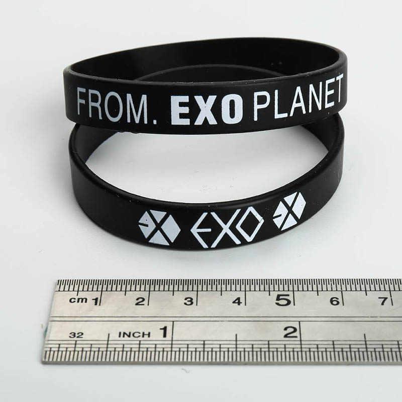 Kpop EXO Album Ulang Tahun Gelang Sport Silikon Persahabatan Gelang Gelang Aksesoris Fashion untuk Pria Wanita