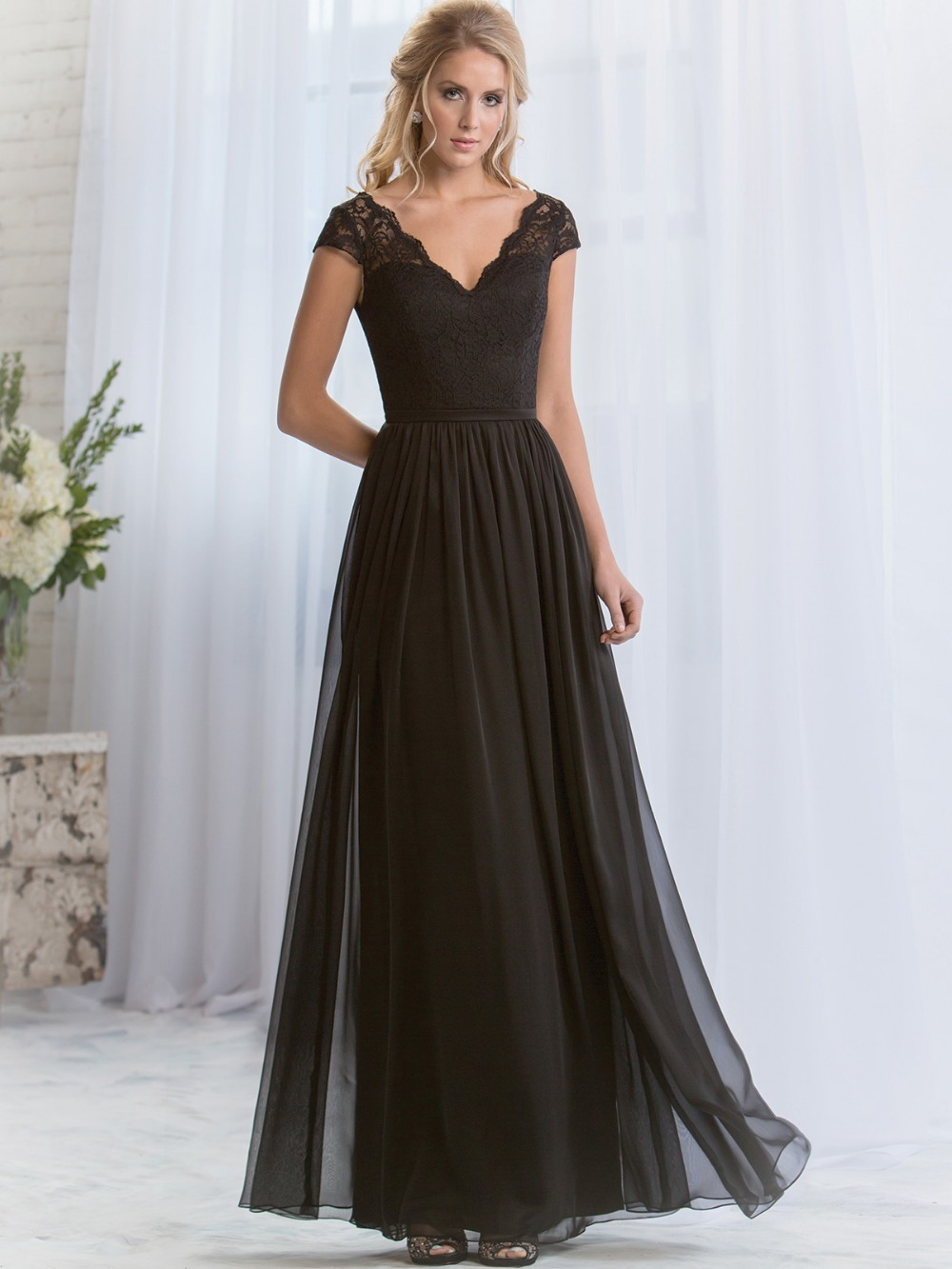 High Quality Long Black Chiffon Bridesmaid Dresses-Buy Cheap Long ...