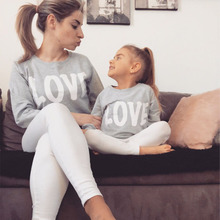 1pc 2018 New Spring Family Look Mother Son Outfits Love Coffee Milk Father Son Matching Clothes Full Sleeve Daughter Mae E Filha family clothing matching mother daughter father son hooded hoodies letter causal t shirt for girls boys mae e filha family look
