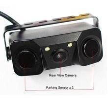 Водонепроницаемая 3в1 автомобильная парковочная радиолокационная система заднего вида CMOS интеллектуальная камера