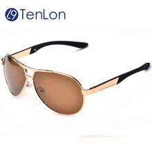YYTZM gafas de Marca Mens Clásicos aviador gafas de sol polarizadas gafas de sol hombre polarizadas Metal frame gafas de recubrimiento