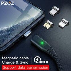 PZOZ Magnetische Kabel Micro usb Typ C Schnelle Lade Adapter Telefon Microusb Typ-C Magnet Ladegerät usb c Für iphone Samsung xiaomi