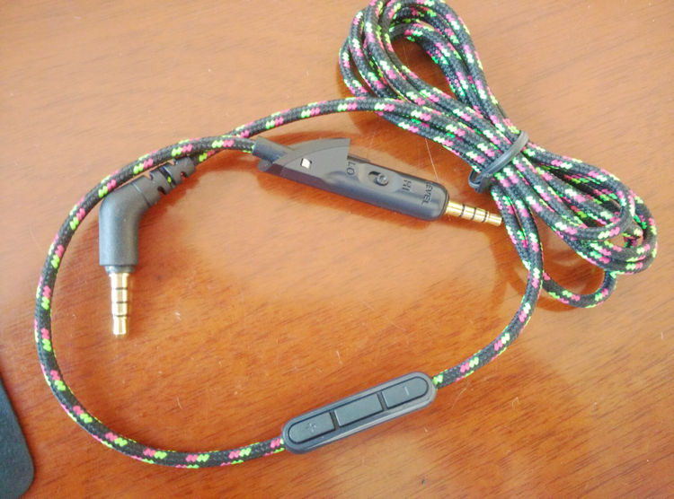 Replacement Color Braided Remote and Microphone Audio Extension Cable Cord For Bose QC15 QC 15 Headphones
