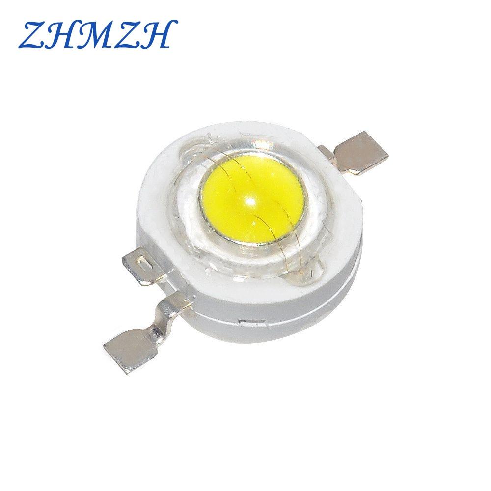 20 pçs/lote 1W Alta Potência LEVOU Talão de Luz SMD LEDs Diodo Emissor de Luz-Chip 100-110lm LEVOU Para Downlight Holofotes Lâmpada Branca do Bulbo