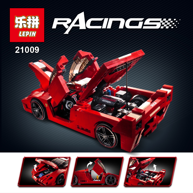 LEPIN Blocks Famous car Series DIY Intelligence Blocks Building Toys Children Toys  technic racing sports car  Boy Gifts 21009 in stock new lepin 21009 fxx 1 17 toy building blocks 632pcs technic racing sports car supercar model boy gift compatible 8156