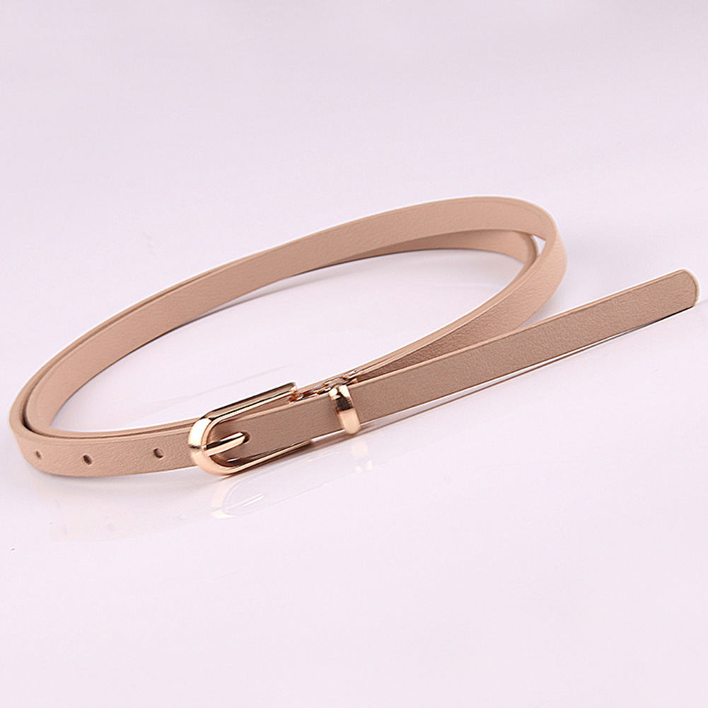 Tie Lightweight Fastening Pin Buckle All Match Wear Resistant PU Leather Women Belt Waistband Adjsutable Clothes Accessories