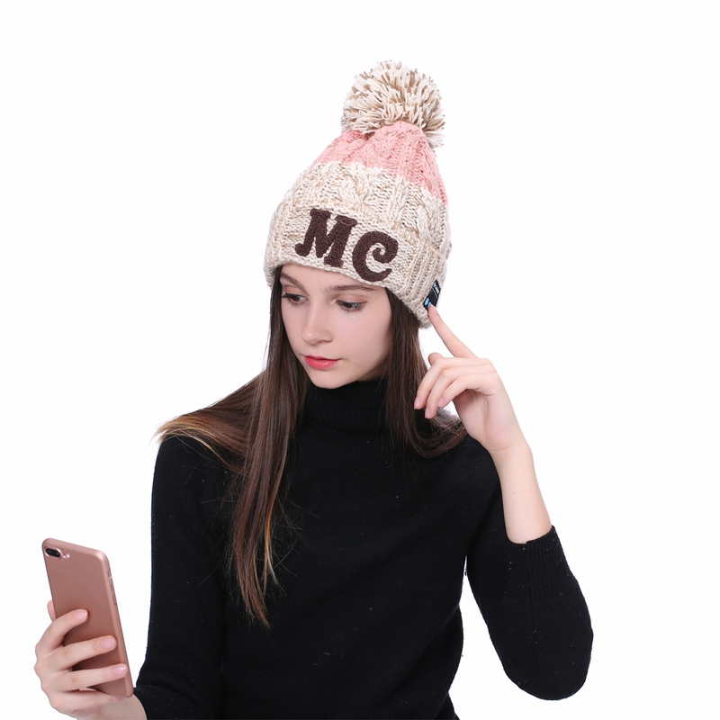 Fashion Wireless Bluetooth Knit Caps Winter Outdoor Sport Headphones Hat Music Cap Earphone for iPhone Smart Phone