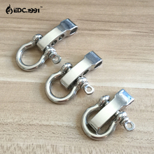 10 PCS O Shape Stainless Steel Adjustable Anchor Shackle Outdoor Camping Emergency Rope Survival Paracord Bracelet Buckle EDC
