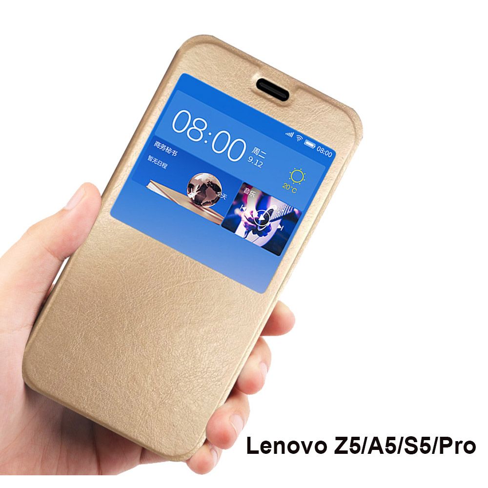 Lenovo Z5 case flip cover for Lenovo A5 phone cases window Ultrathin PU leather case for Lenovo S5 K520 cover Lenovo S5 pro case