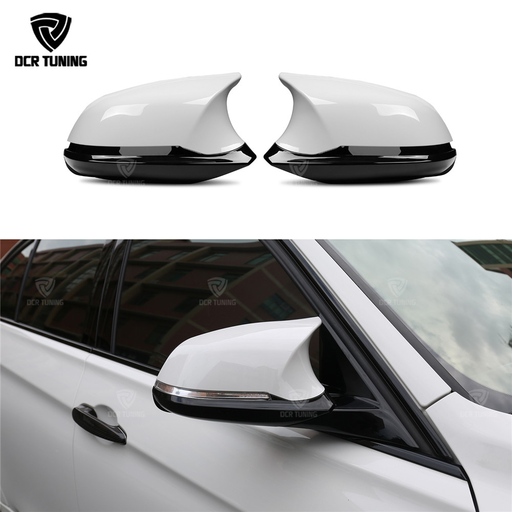 M3 M4 Look For BMW 1 2 3 4 X Series F20 F21 F22 F23 F30 F31 F32 F33 F36 X1 E84 Rear View Mirror Cover 6 piece/set NOT real M3 M4 m style carbon mirror cover for bmw 1 2 3 4 x serie f20 f21 f22 f23 f30 f31 f32 f33 f36 x1 e84 m3 m4 look replacement