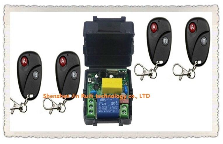 Nueva AC220V 1CH RF Sistema de Interruptor de Control Remoto Inalámbrico Transmi