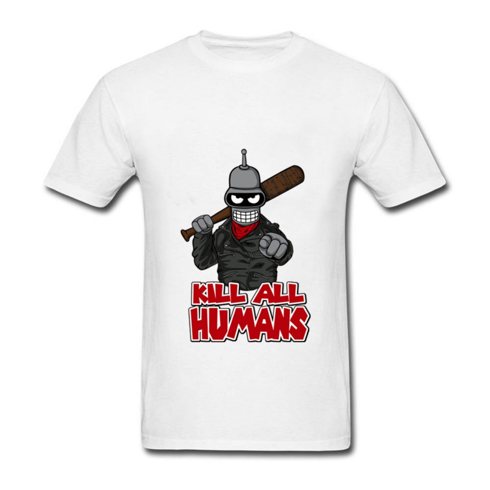 2019 Futurama Bender The Walking Bot TShirts Men's Cotton Loose Short Sleeve Tee   shirts   print   T     shirt   Man's   T  -  shirts   Tops