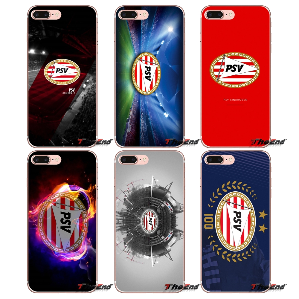For IPhone X 4 4S 5 5S 5C SE 6 6S 7 8 Plus Samsung Galaxy J1 J3 J5 J7 A3 A5 2016 2017 PSV Eindhoven Soccer Football Logo Case