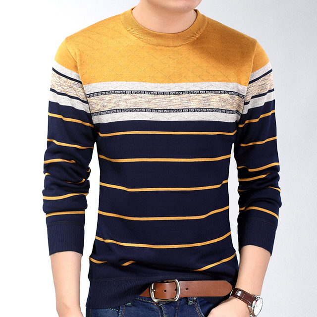 New fashion casual social fitness bodybuilding striped T-Shirts 1