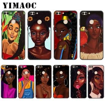 YIMAOC Black Girl Magic women Soft Case for Huawei P20 P8 P9 P10 Lite Mini Plus Pro P Smart 2019