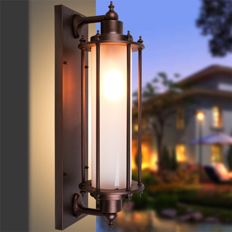 Us 93 79 33 Off Antique Outdoor Led Wall Light Waterproof Rust Porch Lights Sconce Lamp Garden Balcony Aisle Decor Aluminum Lighting In