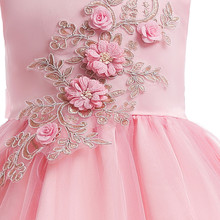 Toddler Girl Floral Lace Bridesmaid Gown Dress