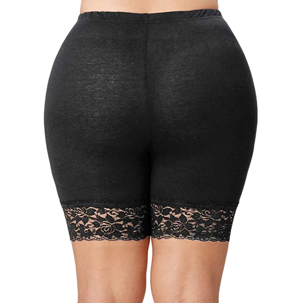 Women Safety Underwear Soft Comfortable Short Underwear Pants Mid Waist Lace Lady Shorts Elastic Pants Trousers XL-5XL Plus Size
