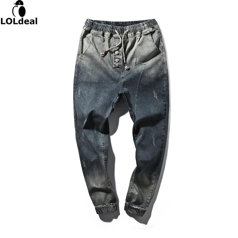 Mens Skinny jeans 2017 slim male jeans denim Biker jeans hiphop pants gradient color jeans for man