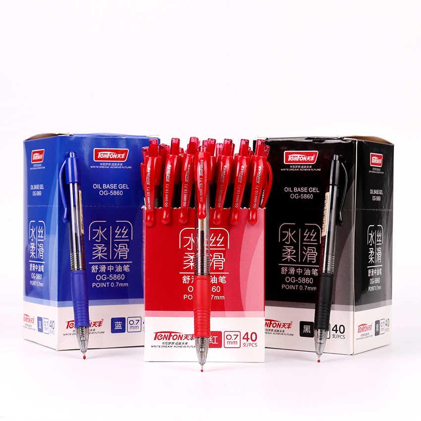 1 قطعة هلام القلم 0.7 مللي متر عبوة الأحمر الأزرق الأسود البلاستيك هلام القلم الأزياء المدرسة اللوازم المكتبية طالب الكتابة القرطاسية OG-5860