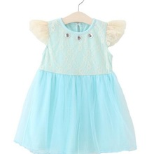 Baby Girls Elsa Dress Summer Ruffles Lace Dresses For Vintage Toddler Cotton Girl Clothing 1-5Yrs Bebe Vestidos Children C
