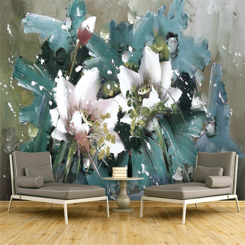 custom 3d photo high quality non-woven wallpaper wall 3d mural wallpaper European flowers painting background wall home decor custom 3d mural wallpaper street art graffiti cartoon hand painted brick wall background decor wall painting non woven wallpaper