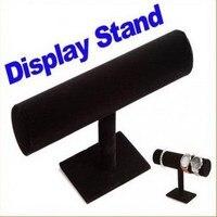 NEW T BAR BRACELET WATCH HOLDER STAND JEWELRY DISPLAY Black