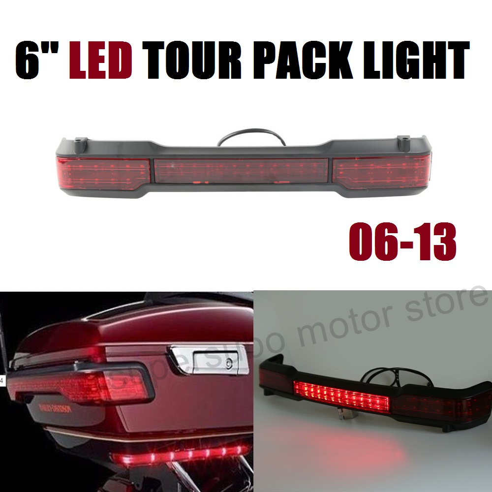 REAR Tour pack 6'' LED Tail light Brake Running Light For Harley Classic Ultra roadking 2009-2013 bigbang 2012 bigbang live concert alive tour in seoul release date 2013 01 10 kpop