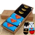 Compras libres mujeres de superhéroes y villanos lindo héroe de dibujos animados calcetines Set incluye 6 pares