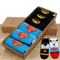 Free Shopping Women's Superheroes and Villains Cute Cartoon Hero Socks Set Including 6 Pairs