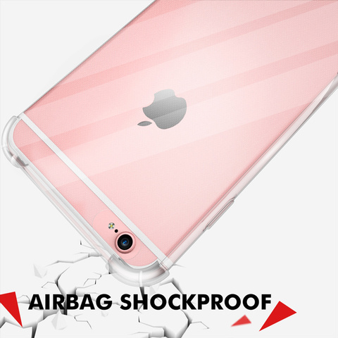 Shockproof Clear Soft Fitted Cases For iPhone X 8 7 6s 6 Plus 10 5S Case Transparent Silicone Phone Back Cover for iphone 7 case Lahore