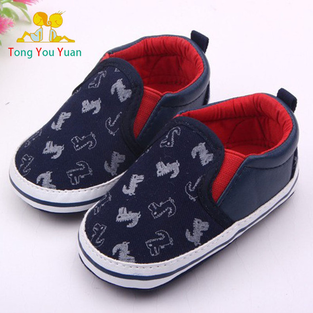 a55278fd3a5 0-2 year old boy baby first walk shoe blue surface tyrannosaurus rex  embroidery new born boy baby boy shoes first walkers 1614